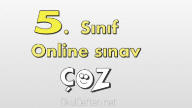 5. Sınıf Online yazılı çöz