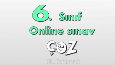 6. Sınıf online yazılı çöz