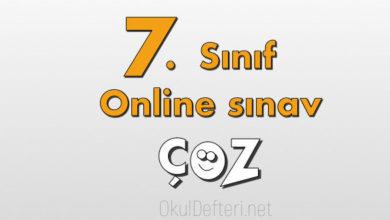 7. Sınıf online yazılı çöz