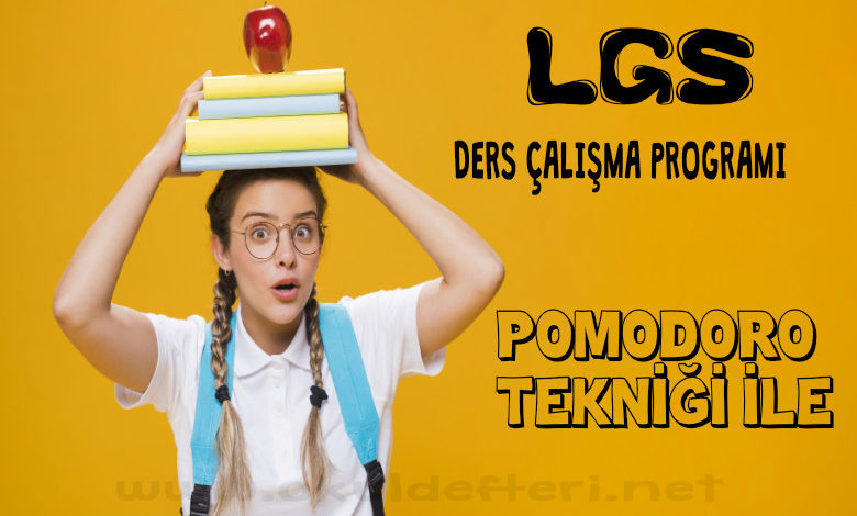 LGS ders çalışma planı programı